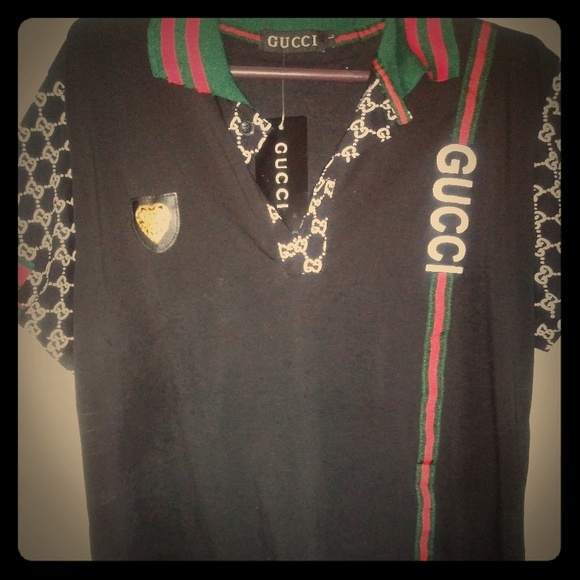 cd783b7f Gucci Shirts | L Designer 3 Button Polo Shirt | Poshmark
